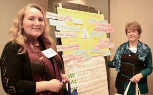 """Olwyn Moxley (left) and Isabella Marchese of the Children's International Learning Centre in Hamilton describe the proper """"care and feeding"""" to develop strong board members."""